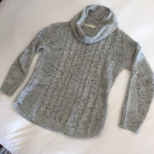 RD style cowl neck grey with black sweater